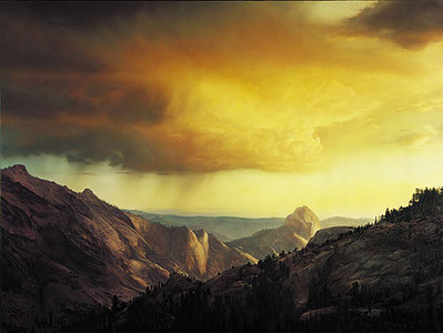Storm Over Tenaya Canyon- Signed By Andrea Lyman – CanvasGiclee – Limited Edition – 125S/N – 25x33