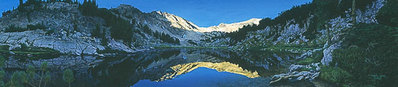 Sunrise In The Wallowas- Signed By Andrea Lyman – CanvasGiclee – Limited Edition – 150S/N – 14x60