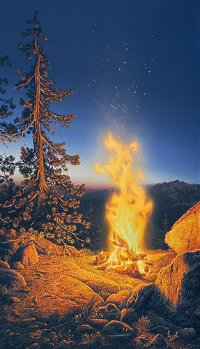 Sunset Fire- Signed By Andrea Lyman								 – Paper Lithograph – Limited Edition – 7263 S/N – 28 x 16