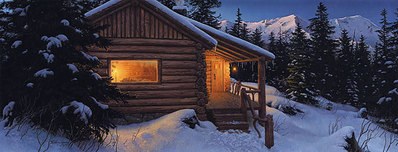 Wilderness Welcome- Signed By Andrea Lyman								 – Canvas Giclee – Limited Edition – 389 S/N – 18 x 48