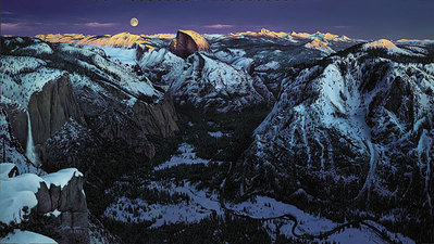 Yosemite Alpenglow- Signed By Andrea Lyman								 – Paper Lithograph – Limited Edition – 950 S/N – 20 1/4 x 36