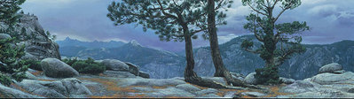Yosemite Landscape- Signed By Andrea Lyman								 – Canvas Giclee – Limited Edition – 150 S/N – 6 x 21