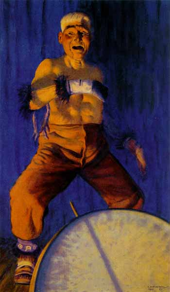 The Chief Dances- Signed By The Artist – PaperLithograph – Limited Edition – 950S/N – 33x19 1/2
