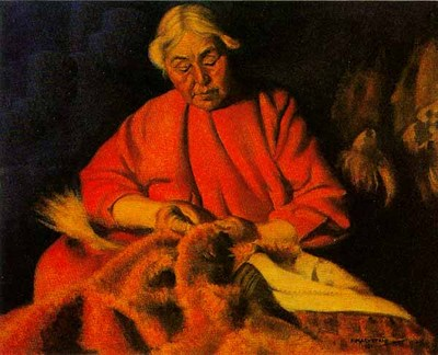Kyrok – Eskimo Seamstress- Signed By The Artist								 – Paper Lithograph – Limited Edition – 950 S/N – 19 5/8 x 26 –