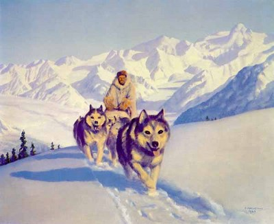 The Nelchina Trail- Signed By The Artist – PaperLithograph – Limited Edition – 950S/N – 19 1/2x25