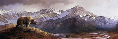 Above The Glacier- Signed By The Artist – PaperLithograph – Limited Edition – A/P – 17 1/2x45 1/4