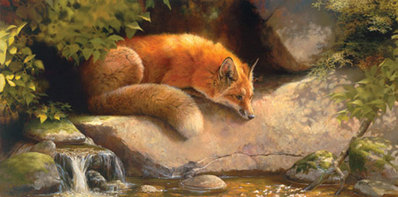 Contemplating The Dragonfly- Signed By The Artist – CanvasGiclee – Limited Edition – 75S/N – 24x48