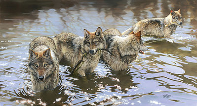 Catch Of The Day- Signed By The Artist – PaperLithograph  – Limited Edition  – 550S/N  –  14x26
