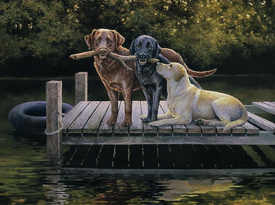 Dog Days- Signed By The Artist – PaperLithograph – Limited Edition – A/P – 19 3/4x26 1/2