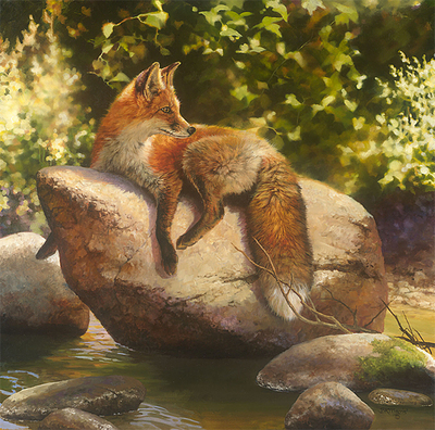 His Favorite Spot- Signed By The Artist – CanvasGiclee – Limited Edition – 75S/N – 20x20