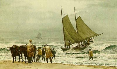 Block Island Boat Beaching- Signed By The Artist – PaperLithograph – Limited Edition – 50A/P – 10 1/4x17 3/8