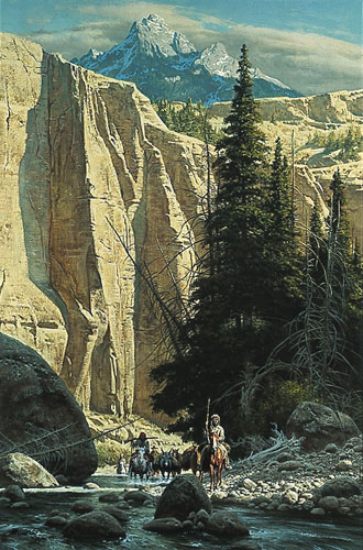 Along The West Fork- Signed By The Artist								 – Paper Lithograph – Limited Edition – A/P – 21 1/2 x 14