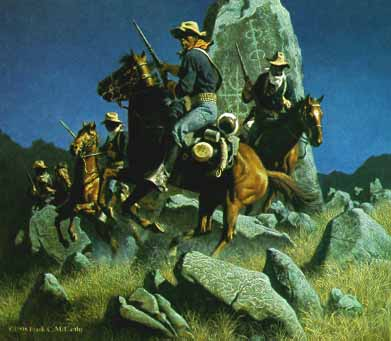 Ambush At The Ancient Rocks- Signed By The Artist – PaperLithograph – Limited Edition – 1000S/N – 23x23