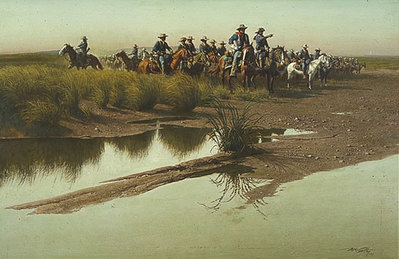 Before The Charge- Signed By The Artist – PaperLithograph – Limited Edition – 1000S/N – 18 1/2x28 –