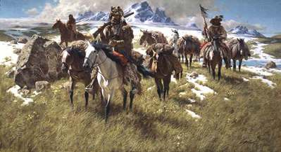 By The Ancient Trails They Passed- Signed By The Artist – PaperLithograph – Limited Edition – 1000S/N – 17x31
