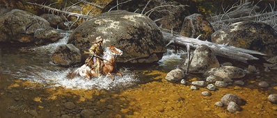 Covering His Trail- CanvasGiclee – Limited Edition – 75Limited – 8x19