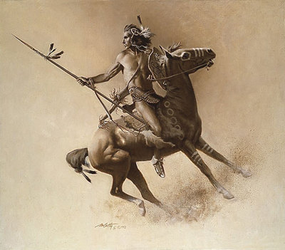 The Warrior- Signed By The Artist – PaperLithograph – Limited Edition – 650S/N – 18x17 –
