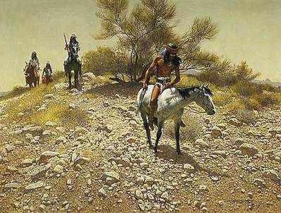 Apache Trackers- Signed By The Artist								 – Paper Lithograph – Limited Edition – 1000 S/N – 9 x 11 7/8