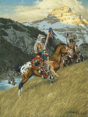 Blackfoot Raiders- Canvas Giclee – Limited Edition – 75 Numbered – 23 x 17