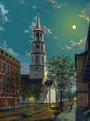 Charleston By Moonlight- Signed By The Artist – PaperLithograph – Limited Edition – 850S/N – 26 1/2x20 1/4