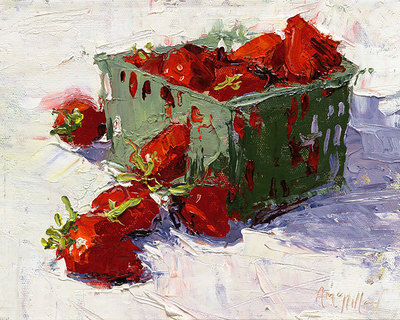 Strawberries- Signed By The Artist – CanvasGiclee – Limited Edition – 95S/N – 8x10
