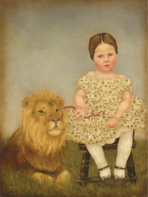 Serena And Her Lion- Signed By The Artist – CanvasGiclee – Limited Edition – 100S/N – 16x12