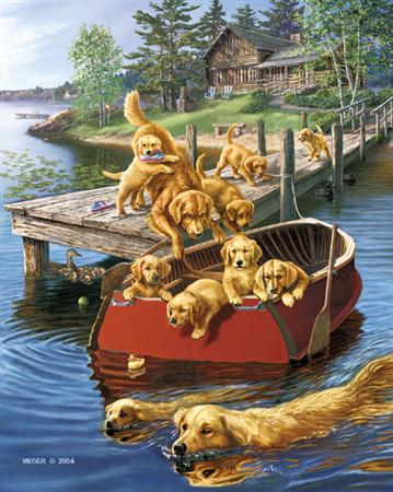 Dog Paddle- Signed By The Artist – PaperLithograph – Limited Edition – 1250S/N – 21x17