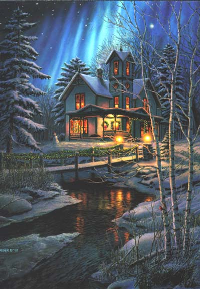 Holiday Lights- Signed By The Artist – PaperLithograph  – Limited Edition  – 1750S/N  –  24x16