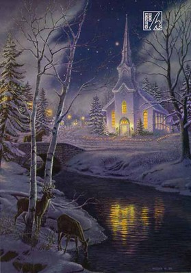 Holy Night- Signed By The Artist – PaperLithograph  – Limited Edition  – 1750S/N  –  24x16