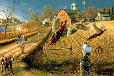 Pheasants Forever- Signed By The Artist – PaperLithograph – Limited Edition – 500A/P – 15 1/2x24 –