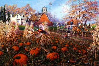 The Pumpkin Patch- Signed By The Artist								 – Paper Lithograph								 – Limited Edition								 – 500 A/P								 – 								16 x 24