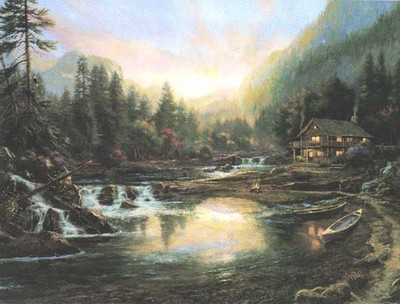 My Retreat- Signed By The Artist – CanvasLithograph – Limited Edition – 695S/N – 25 1/2x34