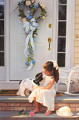 Welcome Home- Signed By The Artist – CanvasGiclee  – Limited Edition  – 75S/N  –  28x18