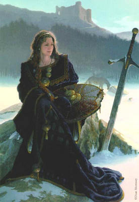 Anna Of The Celts- Signed By The Artist								 – Canvas Giclee – Limited Edition – 25 S/N – 36 x 25 –