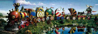 Great Kettles Train- Signed By The Artist – CanvasLithograph – Limited Edition – 180S/N – 12x36