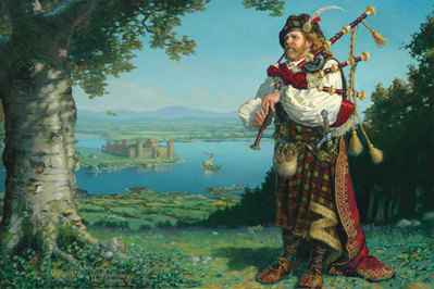 The Piper Of Tir N'og- Signed By The Artist								 – Canvas Giclee – Limited Edition – 50 S/N – 20 x 30