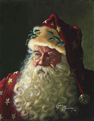 Portrait Of Father Christmas- Signed By The Artist – CanvasGiclee – Limited Edition – 30A/P – 10x8