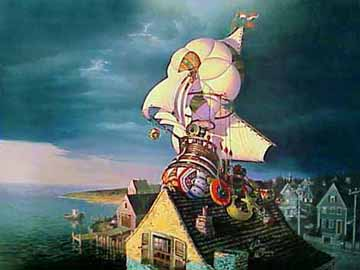 Sandman's Ship Of Dreams- Signed By The Artist								 – Paper Lithograph – Limited Edition – 60 A/P – 21 1/2 x 28 1/2