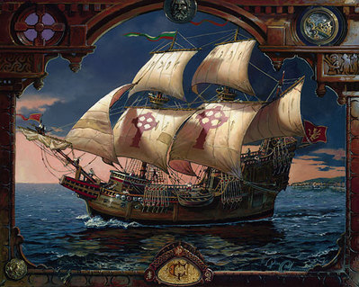 The Voyage Of The Fianna- Signed By The Artist								 – Canvas Giclee – Limited Edition – 150 S/N – 20 x 25
