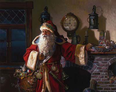 Father Christmas- Signed By The Artist – CanvasGiclee – Limited Edition – 100S/N – 19x24 –