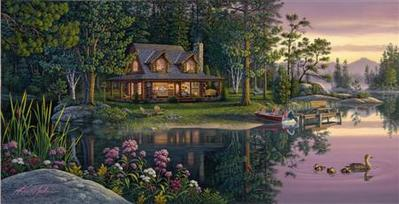 Golden Moments- Signed By The Artist – CanvasGiclee  – Limited Edition  – 200S/N  –  21x41