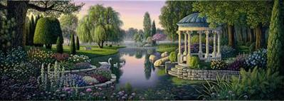 Secret Garden- Signed By The Artist								 – Canvas Giclee – Limited Edition – 250 S/N – 12 x 34