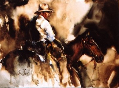A Drover- Signed By The Artist								 – Paper Lithograph – Limited Edition – 95 A/P – 17 x 23 –