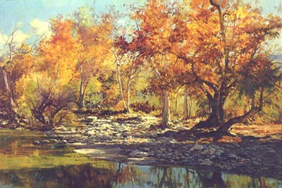 Autumn River- Signed By The Artist								 – Canvas Giclee – Limited Edition – 180 S/N – 24 x 36