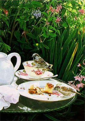 Tea For Two- Signed By The Artist								 – Paper Lithograph – Limited Edition – 850 S/N – 16 x 10 1/2