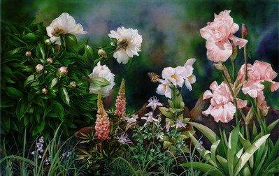 Garden Daydream- Signed By The Artist – PaperGiclee  – Limited Edition  – 180S/N  –  13 1/2x21