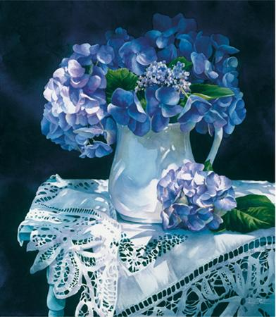 Hydrangea Melody- Signed By The Artist – CanvasGiclee – Limited Edition – 195S/N – 22x19