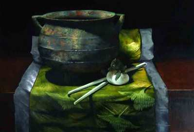 Egg Drop Soup – Original Painting- Signed By The Artist – OilPainting  – Original  – Signed  –  24x36