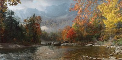Fall In The Appalachians – Mount Mitchell- Signed By The Artist – CanvasGiclee  – Limited Edition  – 25A/P  –  17x34
