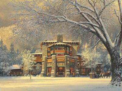 Christmas Eve At The Ahwahnee- Signed By The Artist – CanvasGiclee – Limited Edition – 250S/N – 15x20